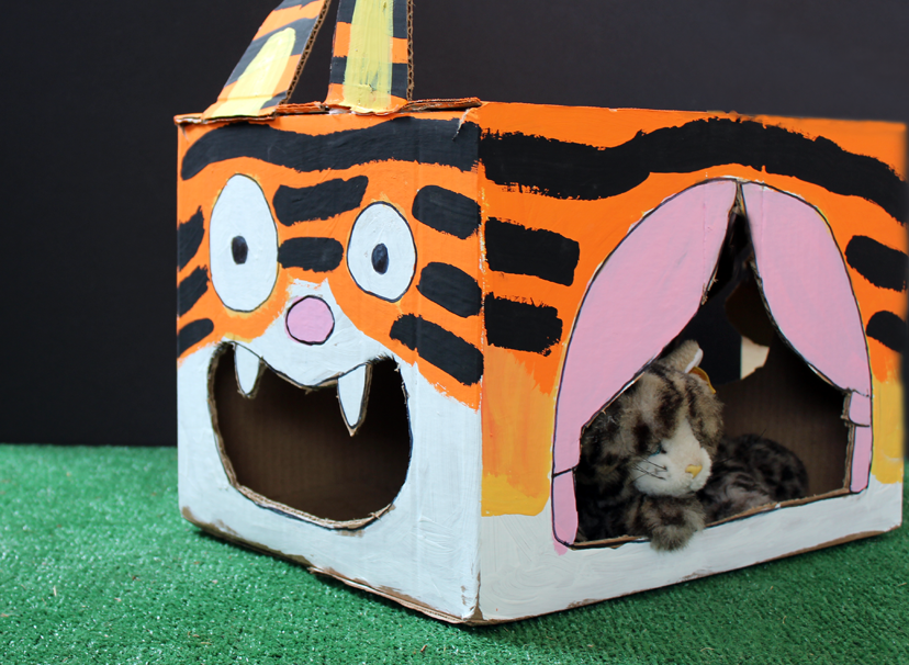Cardboard Cat House Another Cool Box Craft From Box Yourself